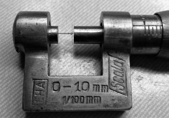 micrometro bianco e nero